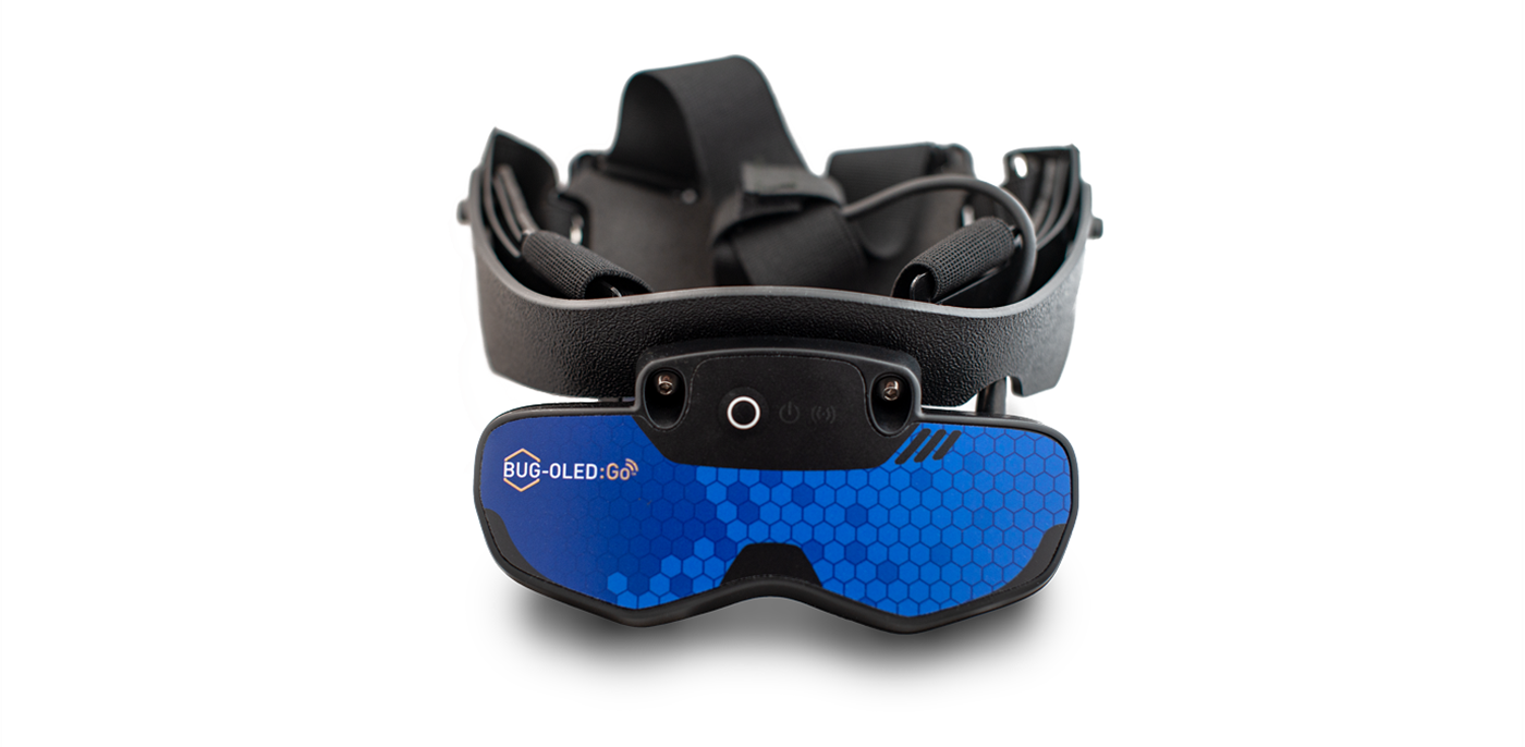 Wireless ultrasound goggle BUG:Go